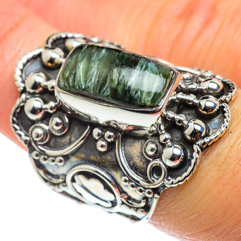 Seraphinite Rings handcrafted by Ana Silver Co - RING43424