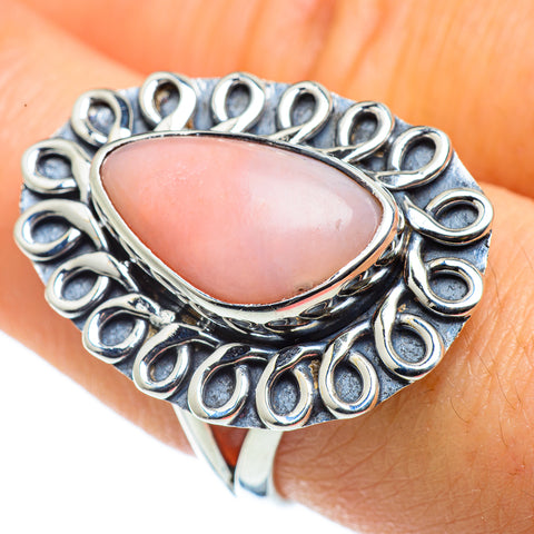 Pink Opal Rings handcrafted by Ana Silver Co - RING43533