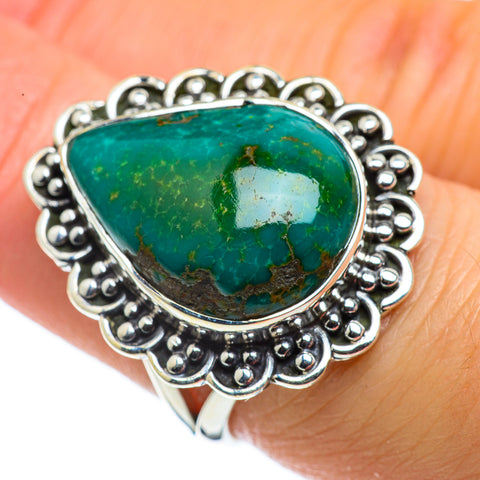 Tibetan Turquoise Rings handcrafted by Ana Silver Co - RING43581
