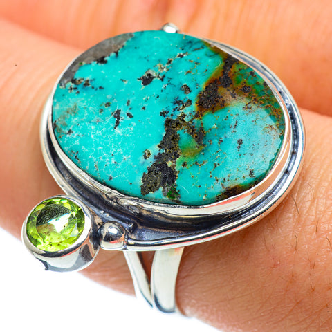 Tibetan Turquoise Rings handcrafted by Ana Silver Co - RING43603