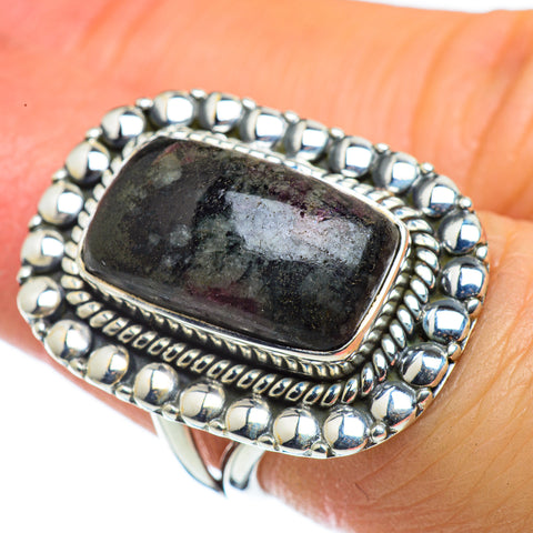 Russian Eudialyte Rings handcrafted by Ana Silver Co - RING43605