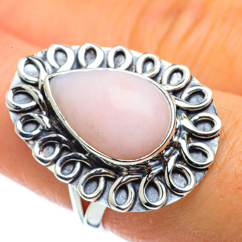 Pink Opal Rings handcrafted by Ana Silver Co - RING43635