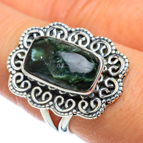Seraphinite Rings handcrafted by Ana Silver Co - RING43689