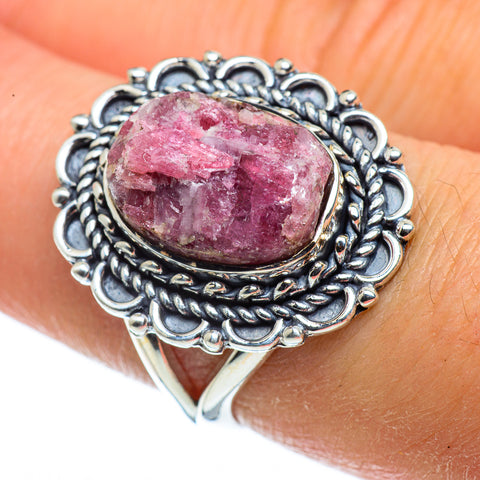 Pink Tourmaline In Quartz Rings handcrafted by Ana Silver Co - RING43724