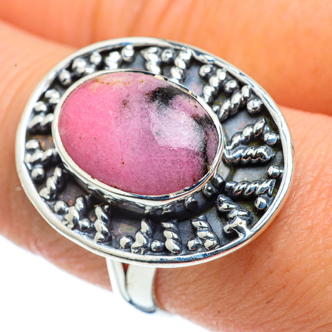 Rhodonite Rings handcrafted by Ana Silver Co - RING43725