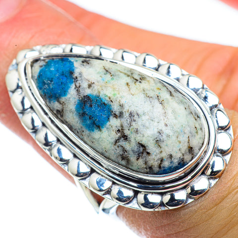 K2 Blue Azurite Rings handcrafted by Ana Silver Co - RING43762