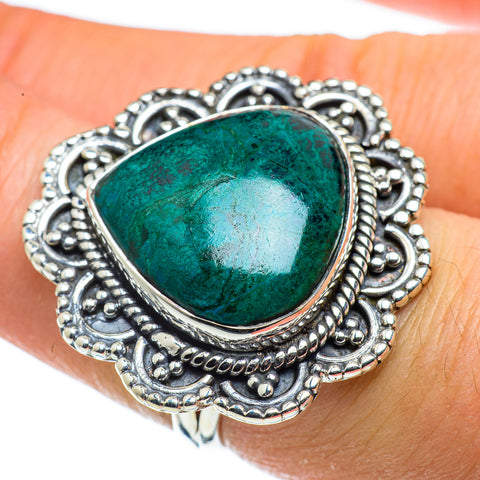 Chrysocolla Rings handcrafted by Ana Silver Co - RING43770