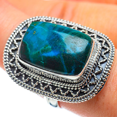 Chrysocolla Rings handcrafted by Ana Silver Co - RING43795