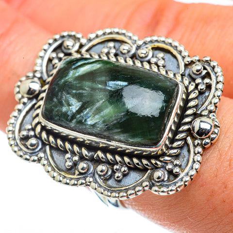 Seraphinite Rings handcrafted by Ana Silver Co - RING43807