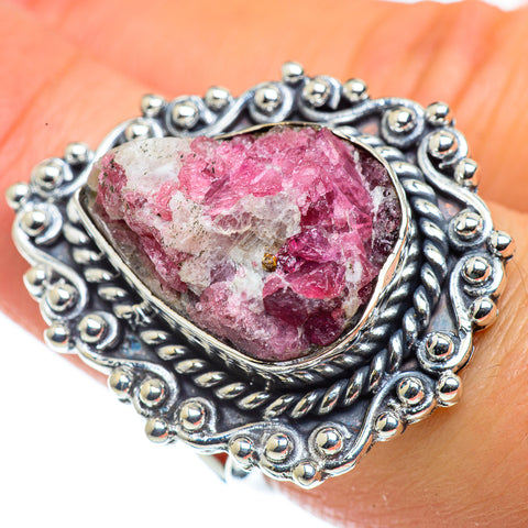 Pink Tourmaline In Quartz Rings handcrafted by Ana Silver Co - RING43820