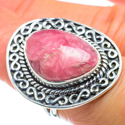 Rhodochrosite Rings handcrafted by Ana Silver Co - RING43824
