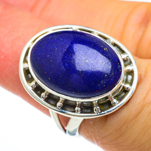 Lapis Lazuli Rings handcrafted by Ana Silver Co - RING43945