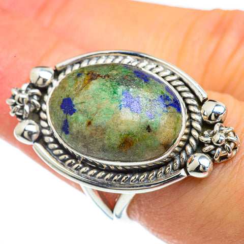 Azurite Rings handcrafted by Ana Silver Co - RING43964
