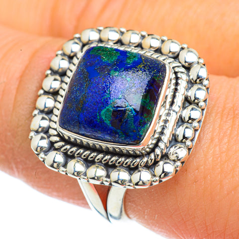Azurite Rings handcrafted by Ana Silver Co - RING43994