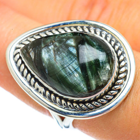 Seraphinite Rings handcrafted by Ana Silver Co - RING43996