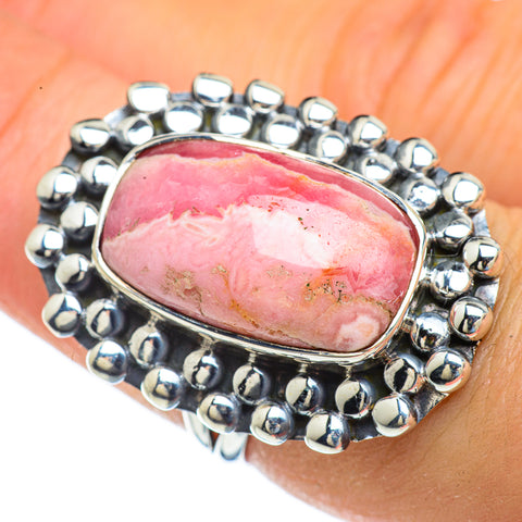 Rhodochrosite Rings handcrafted by Ana Silver Co - RING44024