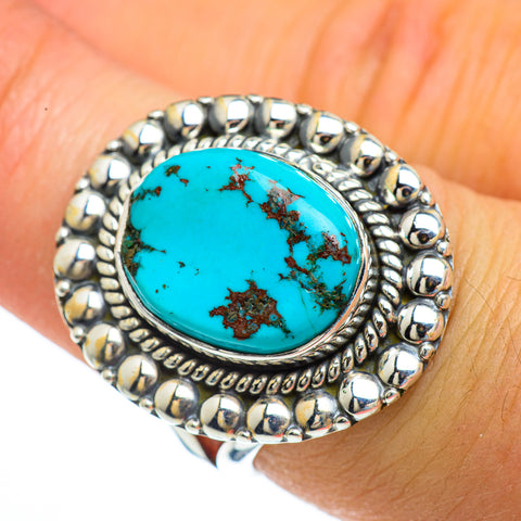 Tibetan Turquoise Rings handcrafted by Ana Silver Co - RING44036