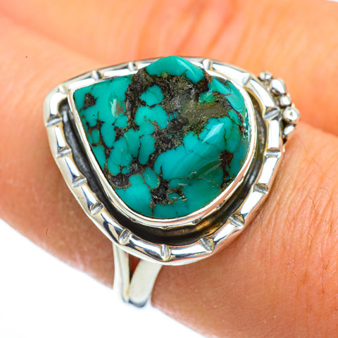 Tibetan Turquoise Rings handcrafted by Ana Silver Co - RING44063