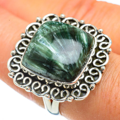 Seraphinite Rings handcrafted by Ana Silver Co - RING44070