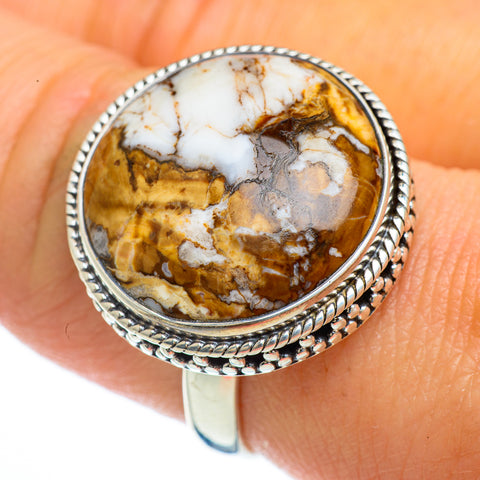 Peanut Wood Jasper Rings handcrafted by Ana Silver Co - RING44097