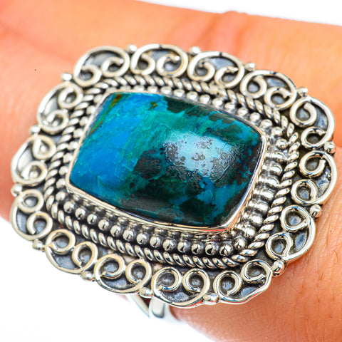 Chrysocolla Rings handcrafted by Ana Silver Co - RING44117