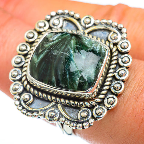 Seraphinite Rings handcrafted by Ana Silver Co - RING44184
