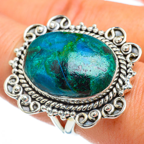 Chrysocolla Rings handcrafted by Ana Silver Co - RING44194