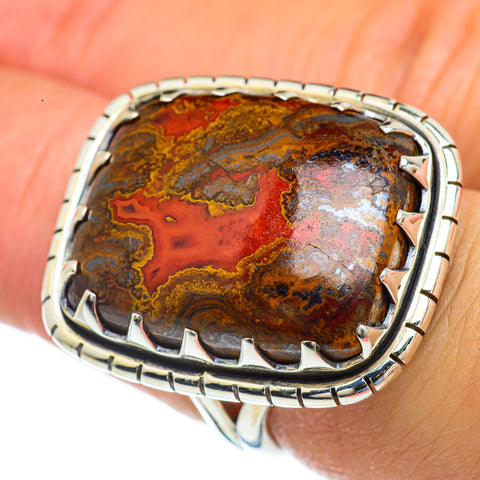 Moroccan Agate Rings handcrafted by Ana Silver Co - RING44217