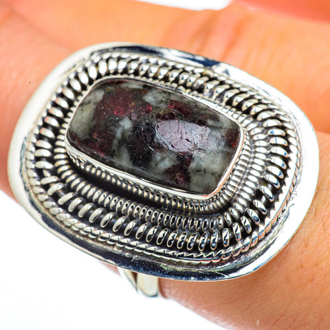 Russian Eudialyte Rings handcrafted by Ana Silver Co - RING44280