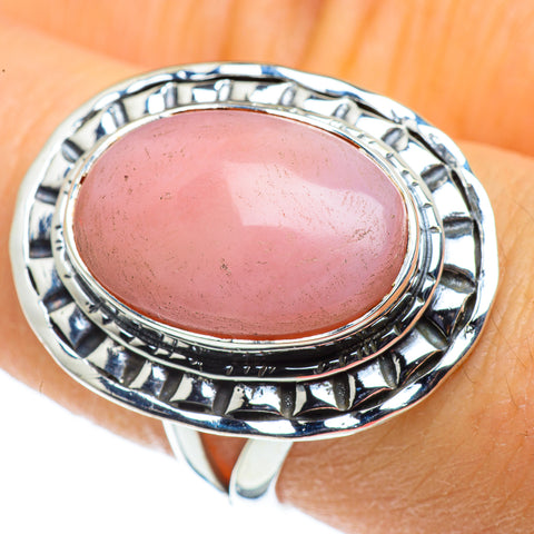 Pink Opal Rings handcrafted by Ana Silver Co - RING44302