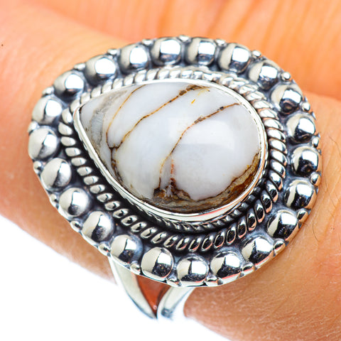 White Agate Rings handcrafted by Ana Silver Co - RING44340