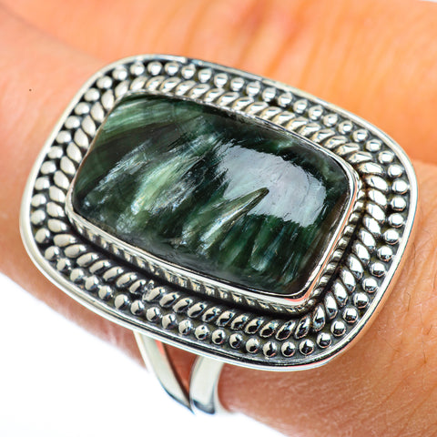 Seraphinite Rings handcrafted by Ana Silver Co - RING44356