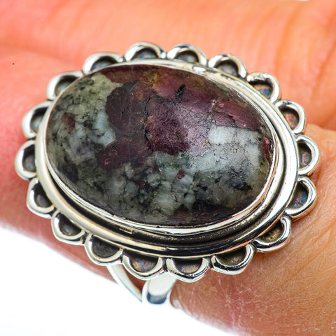 Russian Eudialyte Rings handcrafted by Ana Silver Co - RING44364