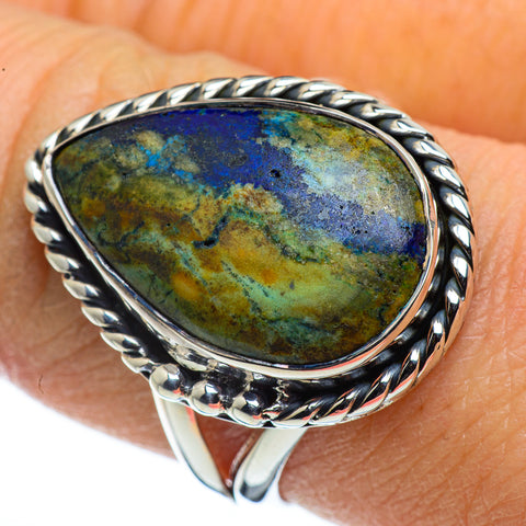 Azurite Rings handcrafted by Ana Silver Co - RING44372