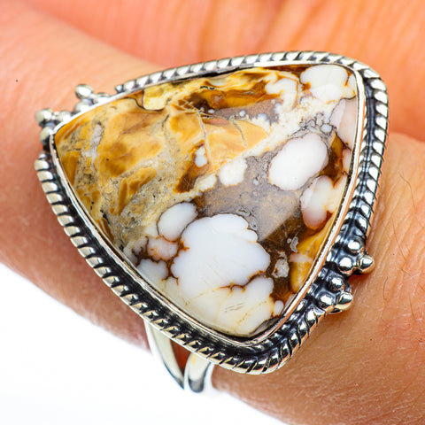 Peanut Wood Jasper Rings handcrafted by Ana Silver Co - RING44388
