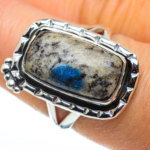 K2 Blue Azurite Rings handcrafted by Ana Silver Co - RING44399