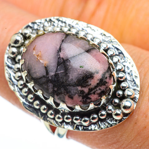 Rhodonite Rings handcrafted by Ana Silver Co - RING44419