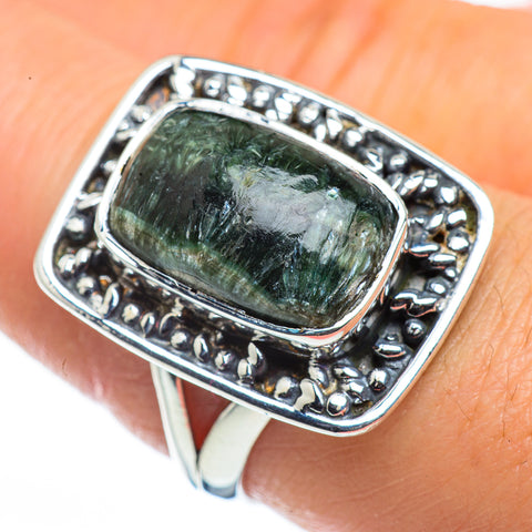 Seraphinite Rings handcrafted by Ana Silver Co - RING44458