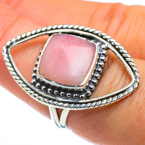 Pink Opal Rings handcrafted by Ana Silver Co - RING44464