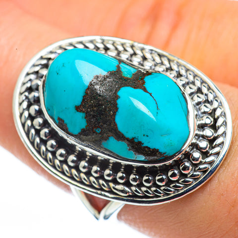 Tibetan Turquoise Rings handcrafted by Ana Silver Co - RING44475