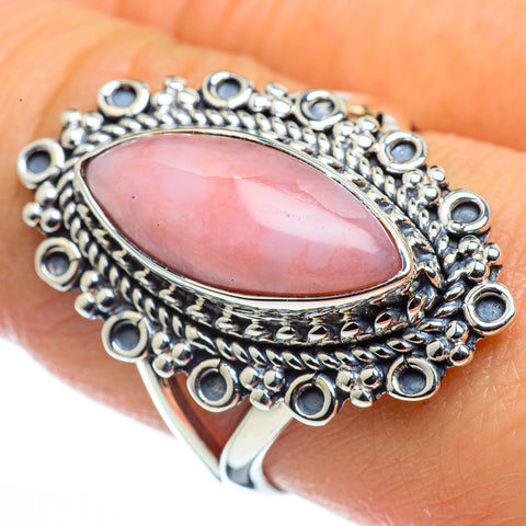 Pink Opal Rings handcrafted by Ana Silver Co - RING44487