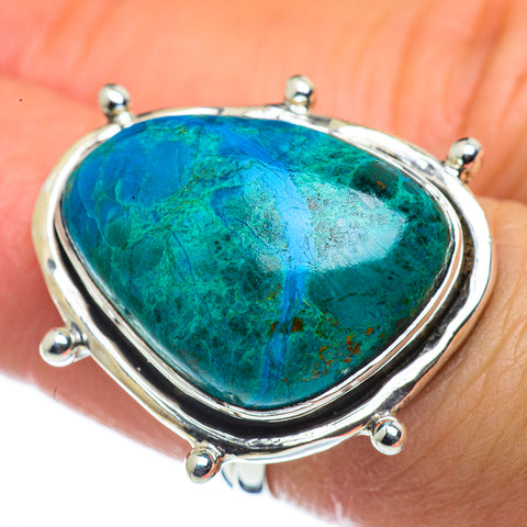 Chrysocolla Rings handcrafted by Ana Silver Co - RING44495