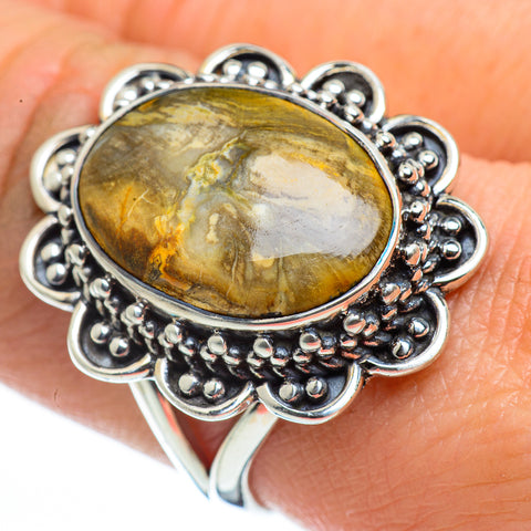 Scenic Dendritic Agate Rings handcrafted by Ana Silver Co - RING44542