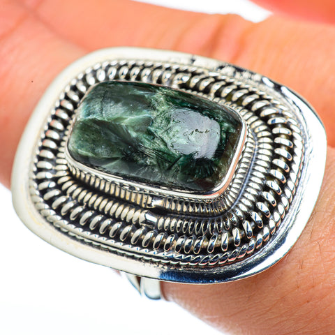 Seraphinite Rings handcrafted by Ana Silver Co - RING44609