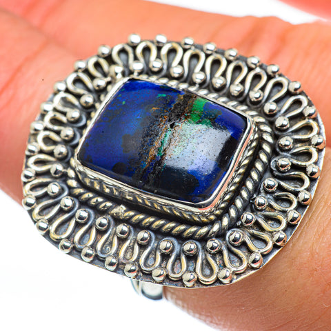 Azurite Rings handcrafted by Ana Silver Co - RING44670