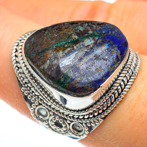 Azurite Rings handcrafted by Ana Silver Co - RING44765