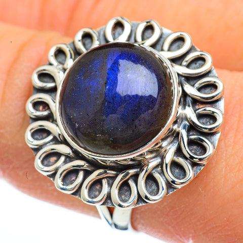 Labradorite Rings handcrafted by Ana Silver Co - RING44794