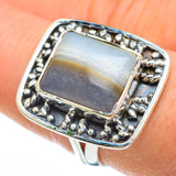 Botswana Agate Rings handcrafted by Ana Silver Co - RING44816