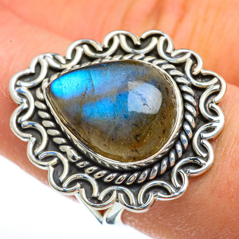 Labradorite Rings handcrafted by Ana Silver Co - RING44825