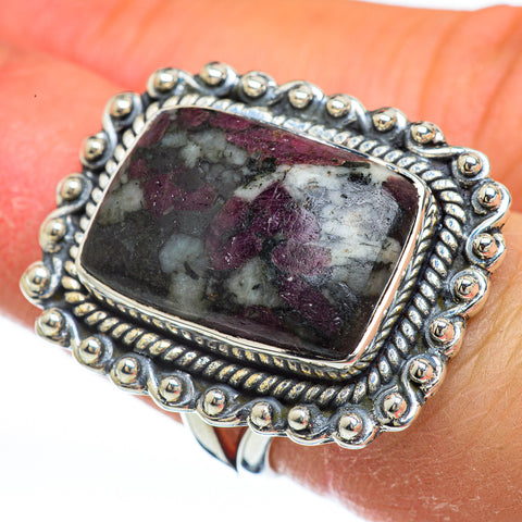 Russian Eudialyte Rings handcrafted by Ana Silver Co - RING44837